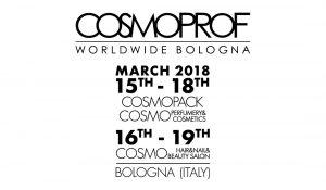 Cosmoprof 15-19 Marzo 2018 presso Bologna Fiere